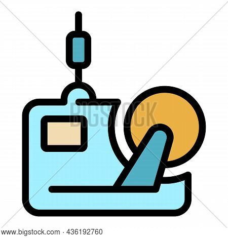 Textile Mill Equipment Icon. Outline Textile Mill Equipment Vector Icon Color Flat Isolated