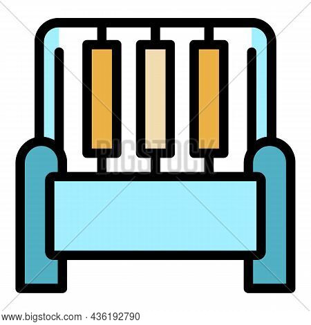 Textile Technology Icon. Outline Textile Technology Vector Icon Color Flat Isolated