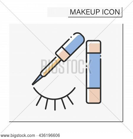 Eyeliner Color Icon. Cosmetic Product. Special Cosmetics For Eyes To Appear Larger Or More Noticeabl