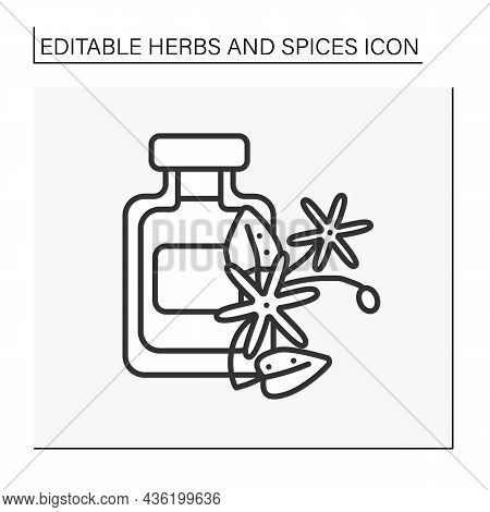Jasmine Line Icon. Sweet-smelling Flower For Perfume And Aromatherapy Procedures. Herbs And Concept.