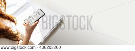 Trade Secret Document Photo Using Phone. Stealing Paperwork