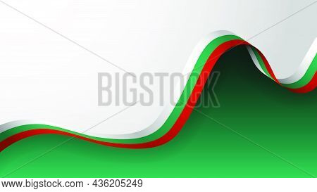 Eps10 Vector Patriotic Background With The Colors Of The Flag Of Bulgaria. An Element Of Impact For
