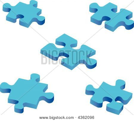 Blue Puzzle Pieces