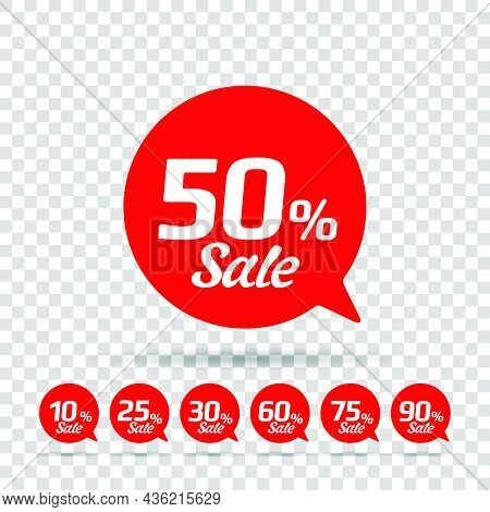 Special Offer Sale With A Red Kit Tag On A Transparent Background. This Is The Concept Of A Price Li