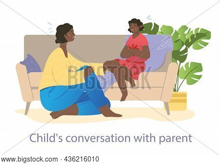 Mother Is Spending Leisure Time With Her Teenager Daughter At Home. Concept Of Family Relations, Par