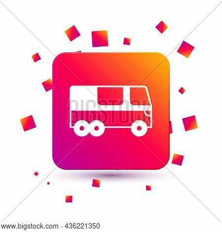 White Bus Icon Isolated On White Background. Transportation Concept. Bus Tour Transport. Tourism Or