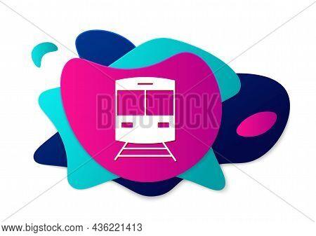 Color Train And Railway Icon Isolated On White Background. Public Transportation Symbol. Subway Trai