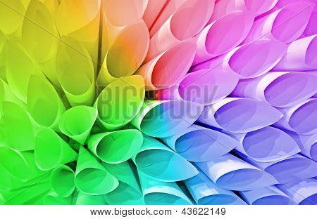 Paper Conus Heap, Rainbow Tubes Diversity