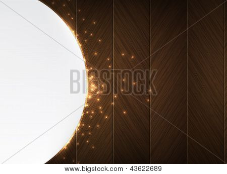 Wood And Glowing Sparks Theme Business Background