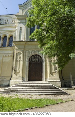 Vidin, Bulgaria - May 23, 2021: Cathedral Of The Saint Demetrius Of Thessaloniki At The Center Of To