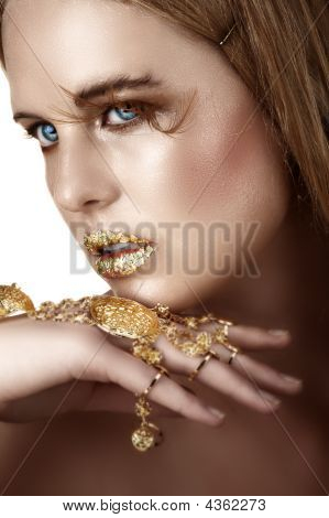 Woman With Gold