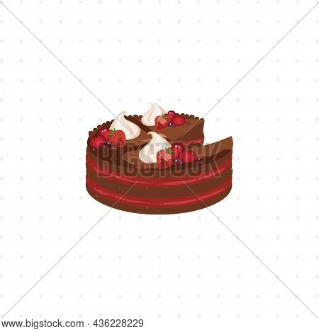 Cake Vector Isolated Illustration On White Background