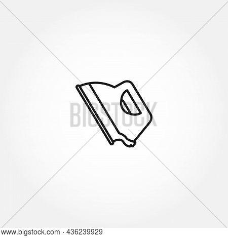 Iron Line Icon. Iron For Clothes Iron Isolated Line Icon