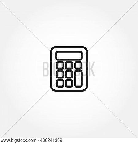 Calculator Line Icon. Calculator Line Icon. Calculator Line Icon. Calculator Line Icon.