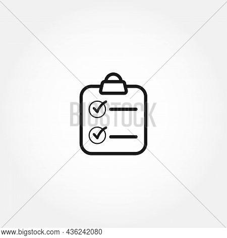 Clip Board Isolated Line Icon. Clip Board Isolated Line Icon.