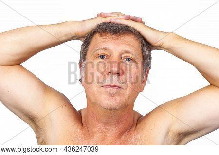 Portrait Of Attractive Looking Caucasian Senior Man