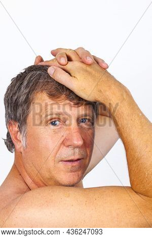 Portrait Of Attractive Looking Man Isolated On White