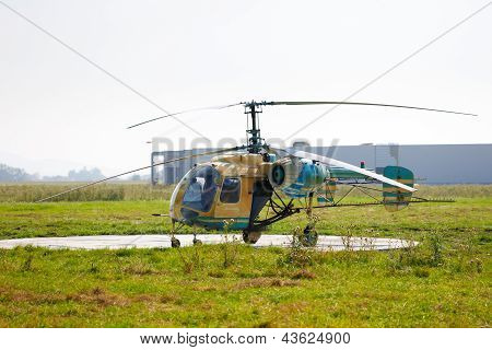 Old Crop Dusting Helicopter