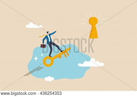 Discover Key Success, Unlock Secret Creativity To Achieve Business Target, Leadership Or Motivation