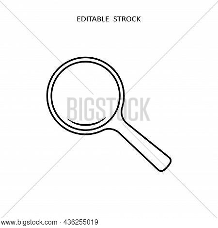 Search Icon. Magnify Glass. Research, Find Icon Vector. Lens, Look Magnifier, Loupe Sign. Search Sym