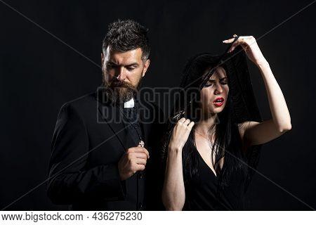Seductive Monk. Priest Sin. Church Pastor With Sexy Nun. Priest With Pray. Monk Man Oblation. Senior