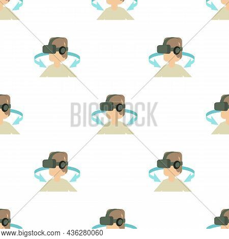 Vr Headset Pattern Seamless Background Texture Repeat Wallpaper Geometric Vector