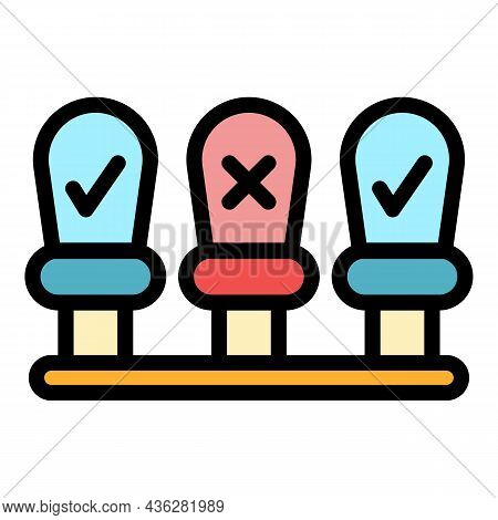 Seats Distance Icon. Outline Seats Distance Vector Icon Color Flat Isolated