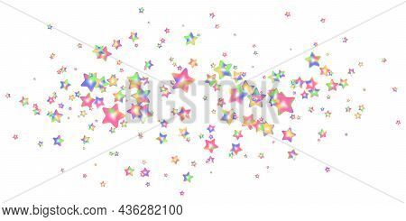 Sprinkle Realistic With Grains Star Shaped. Pattern Colorful Sprinkles Grainy Of Desserts Isolated O