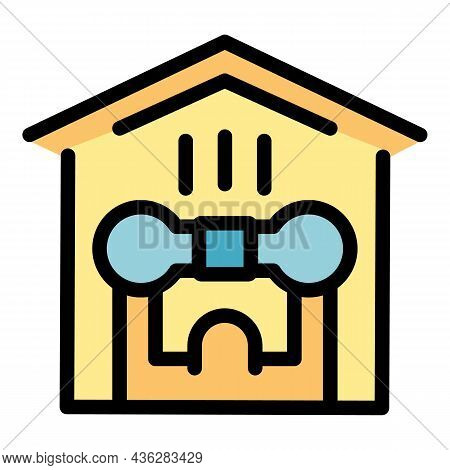 Home Gym Icon. Outline Home Gym Vector Icon Color Flat Isolated