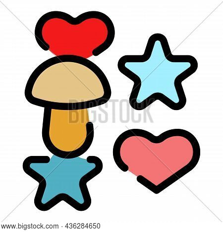 Cookie Molds Oven Icon. Outline Cookie Molds Oven Vector Icon Color Flat Isolated