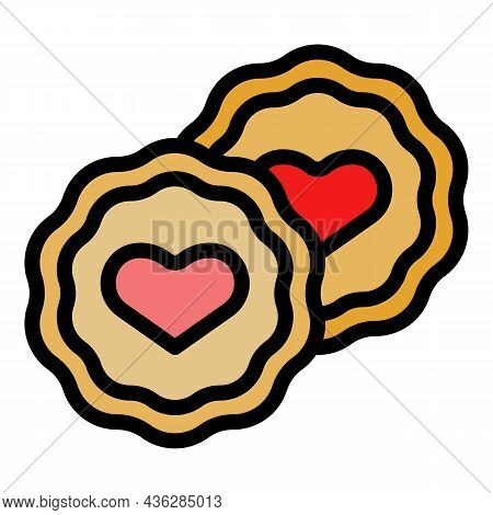 Bakery Molds Icon. Outline Bakery Molds Vector Icon Color Flat Isolated