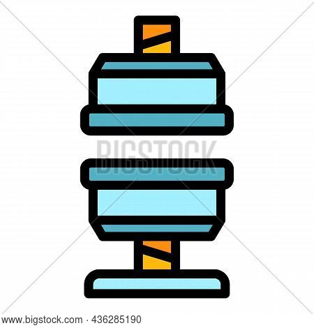 Industrial Press Machine Icon. Outline Industrial Press Machine Vector Icon Color Flat Isolated