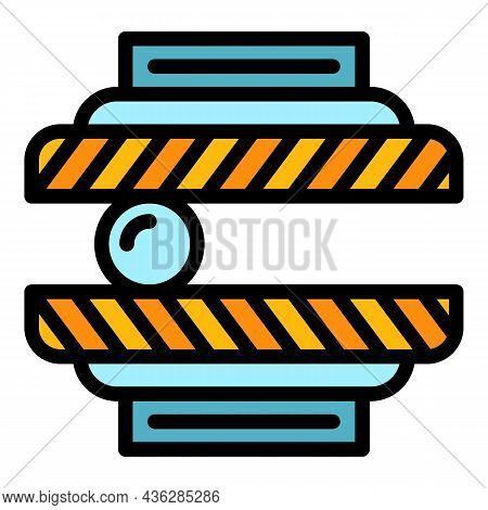 Press Machine Technology Icon. Outline Press Machine Technology Vector Icon Color Flat Isolated