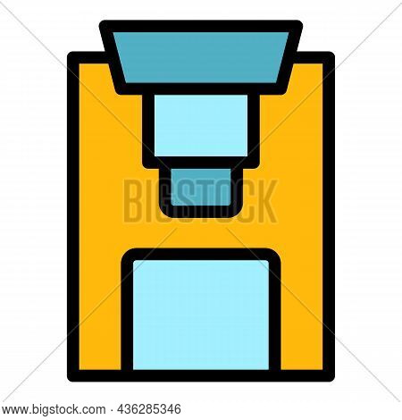 Steel Press Machine Icon. Outline Steel Press Machine Vector Icon Color Flat Isolated