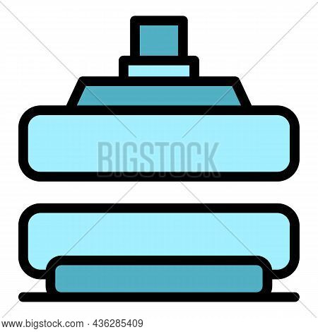 Press Machine Instrument Icon. Outline Press Machine Instrument Vector Icon Color Flat Isolated
