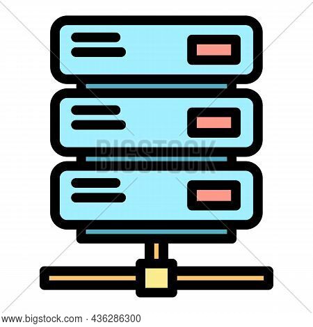 Malware System Icon. Outline Malware System Vector Icon Color Flat Isolated