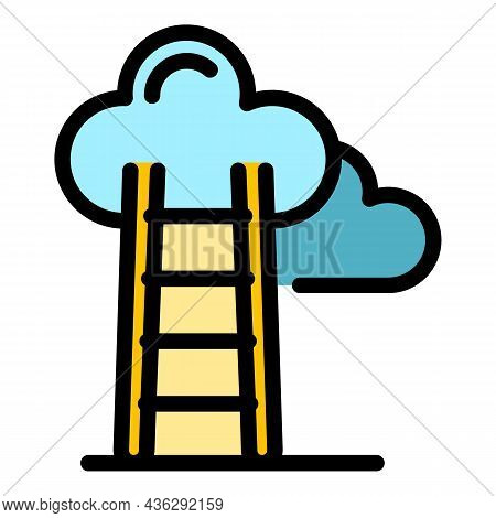 Career Ladder Icon. Outline Career Ladder Vector Icon Color Flat Isolated