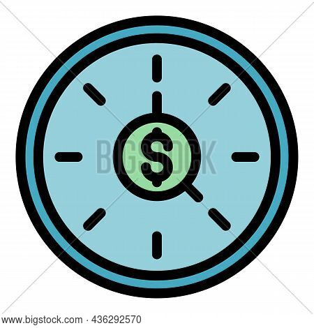 Paid Campaign Icon. Outline Paid Campaign Vector Icon Color Flat Isolated