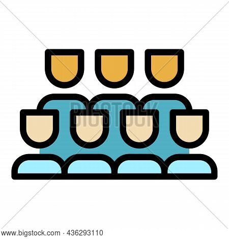Democracy Group Icon. Outline Democracy Group Vector Icon Color Flat Isolated