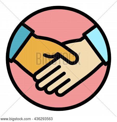 Democracy Handshake Icon. Outline Democracy Handshake Vector Icon Color Flat Isolated