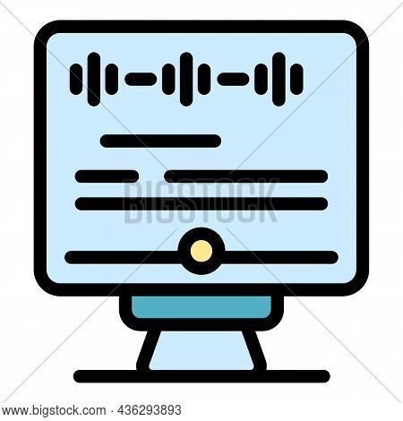Online Patient Consultation Icon. Outline Online Patient Consultation Vector Icon Color Flat Isolate