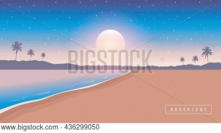 Beautiful Secret Paradise Beach Summer Holiday Background