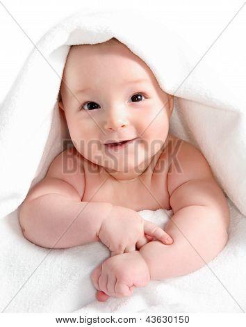 Baby Under White Blanket
