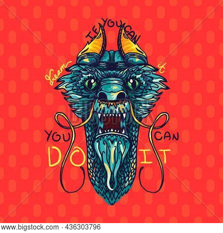 If You Can Dream Do It Inspiration Text Vector