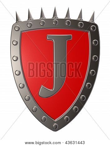 Shield With Letter J