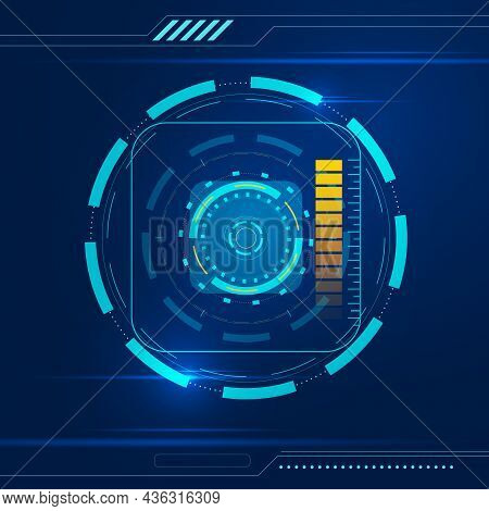 Abstract Tech Futuristic Background. Design Element. Vector Illustration