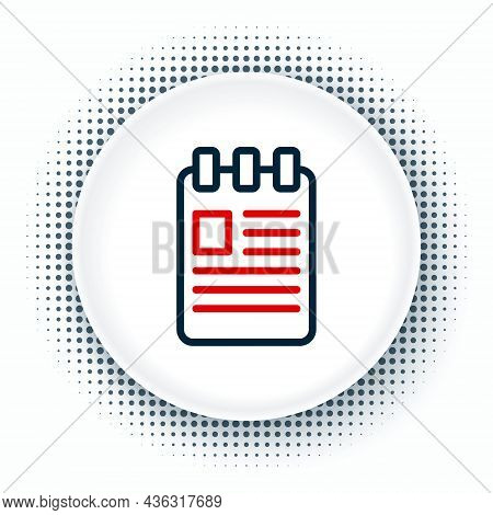 Line Notebook Icon Isolated On White Background. Spiral Notepad Icon. School Notebook. Writing Pad.