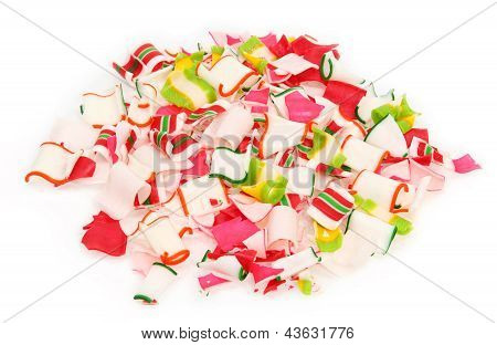Pile Of Crushed Ribbon Candy