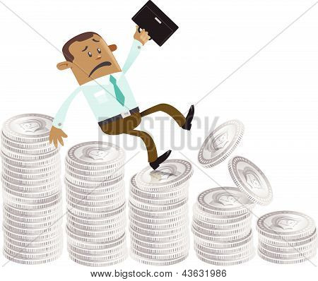 Business Buddy falls down the money hill