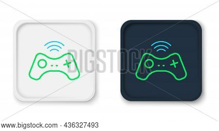Line Wireless Gamepad Icon Isolated On White Background. Game Controller. Colorful Outline Concept.